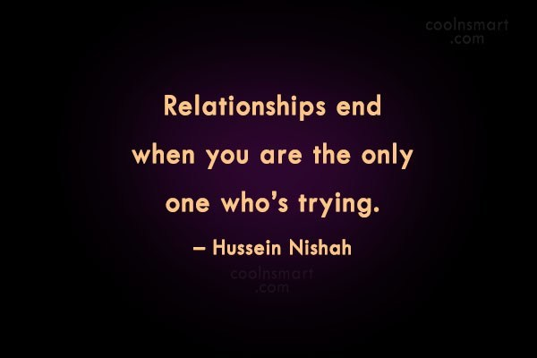When to give up on a relationship