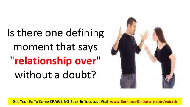 Is your relationship over