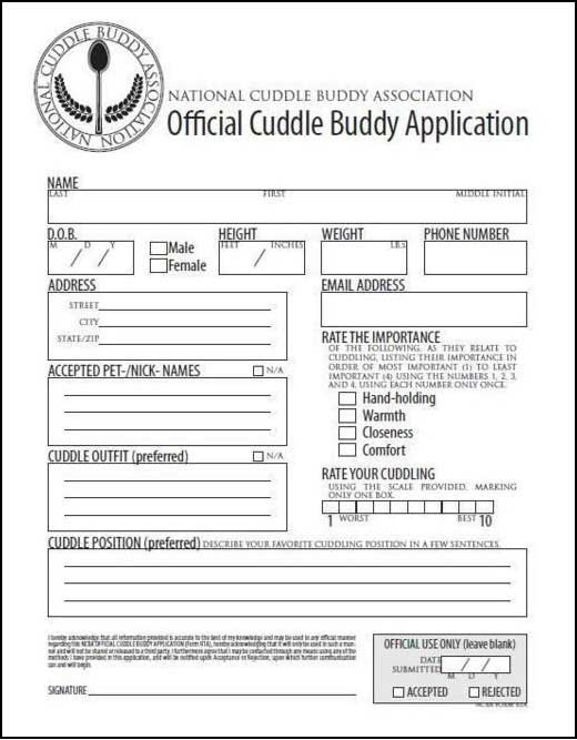 Relationship application form funny