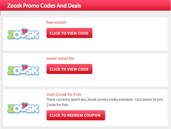 Promo code for zoosk subscription