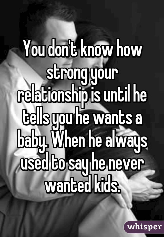 Signs he wants a baby with you