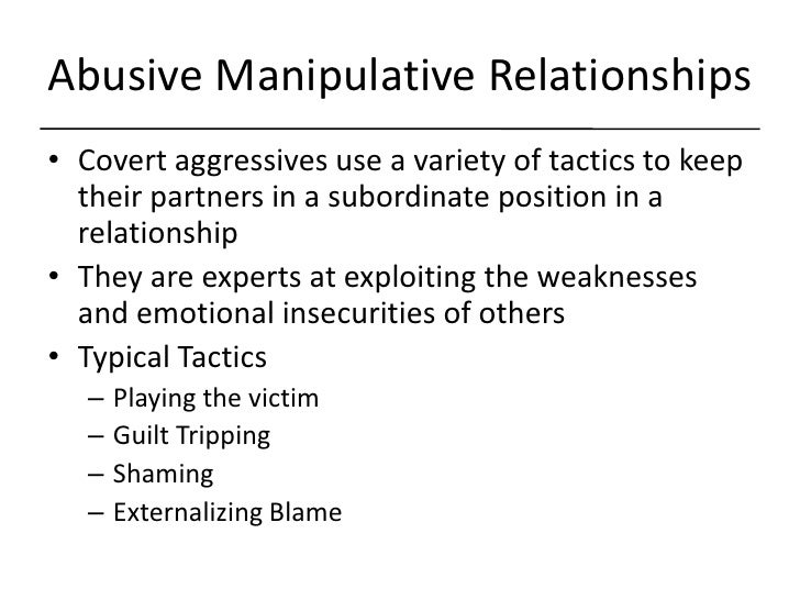 How to deal with manipulators in a relationship