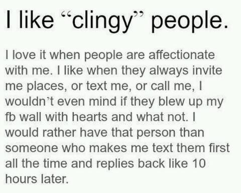 Clingy meaning in relationship