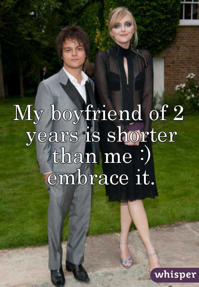My boyfriend is shorter than me
