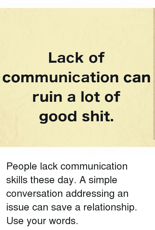 Lack of communication in relationship
