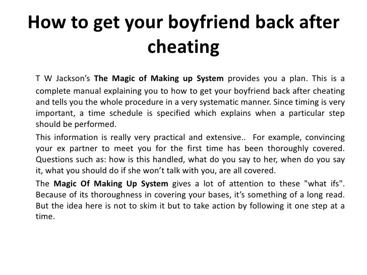What to do if you cheated