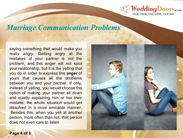 Communication problems with husband