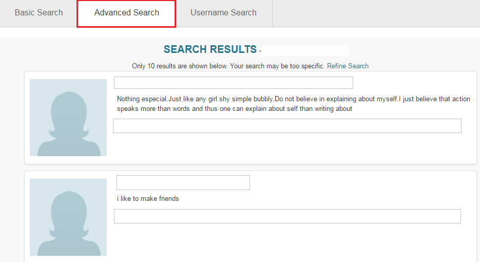 Search pof without registering