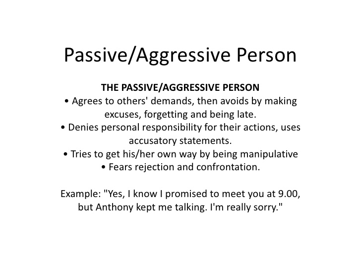 Get out passive aggressive relationship