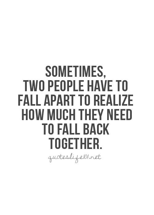 Getting back together with an ex