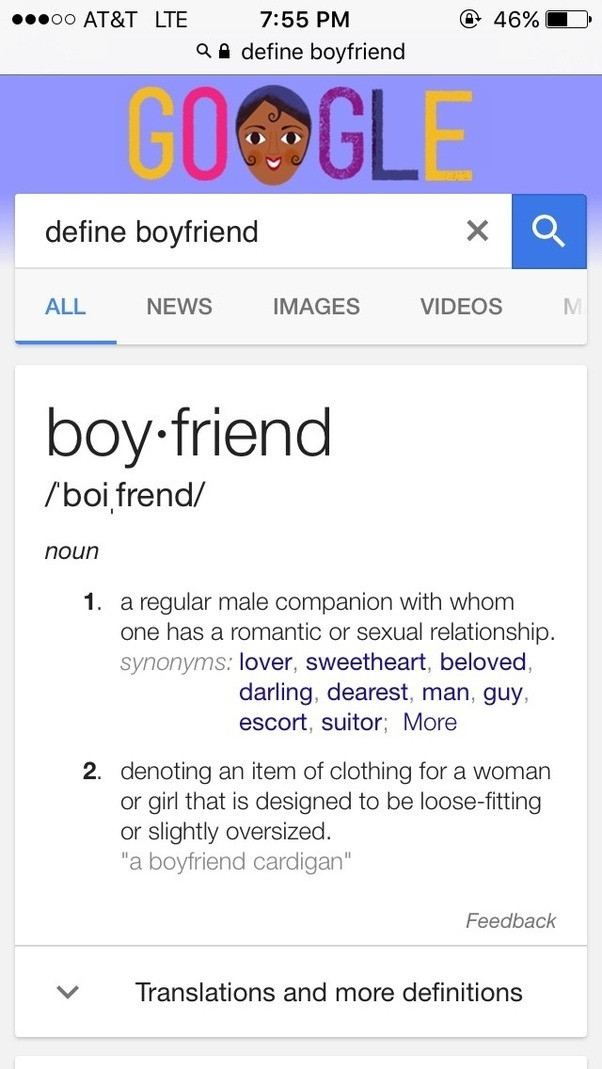 Definition of boyfriend and girlfriend relationship