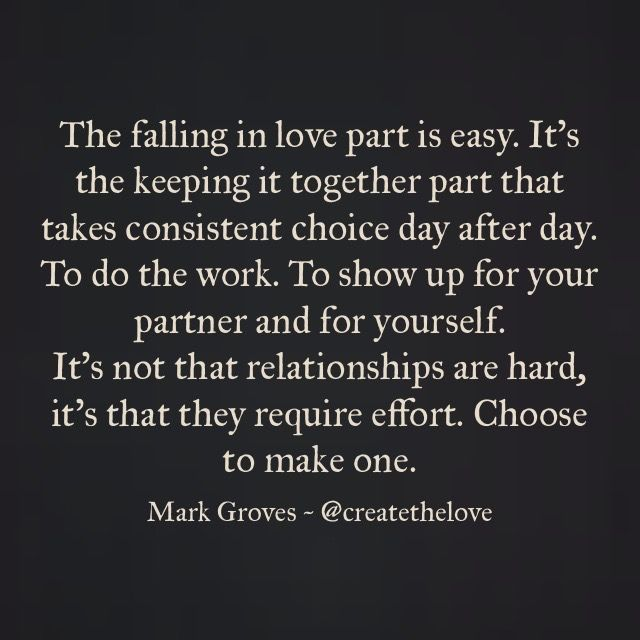 Not making an effort in a relationship