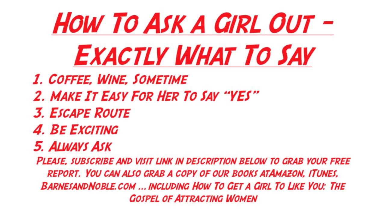When to ask a girl out