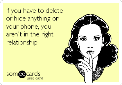 Hiding phone in relationship