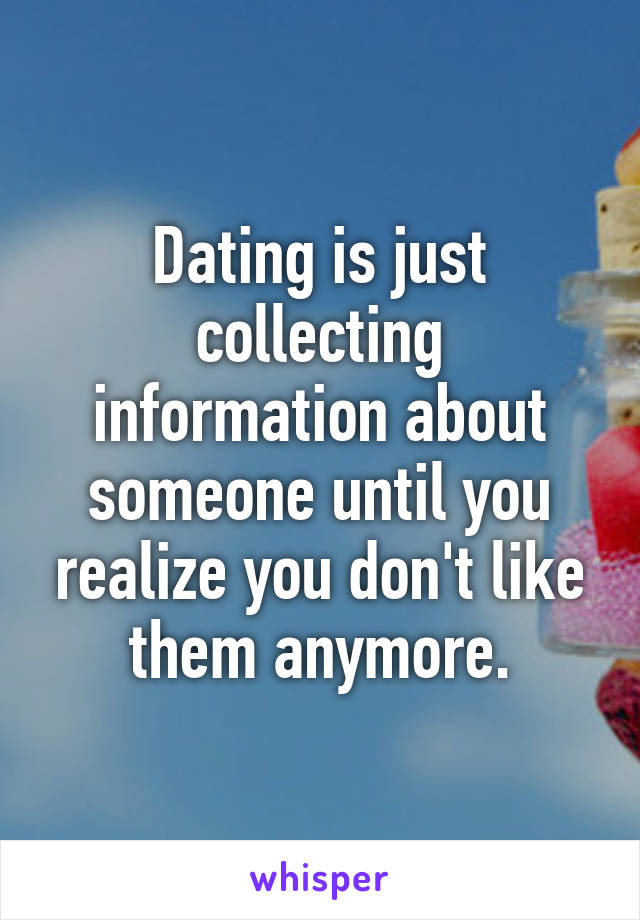 I don t like dating