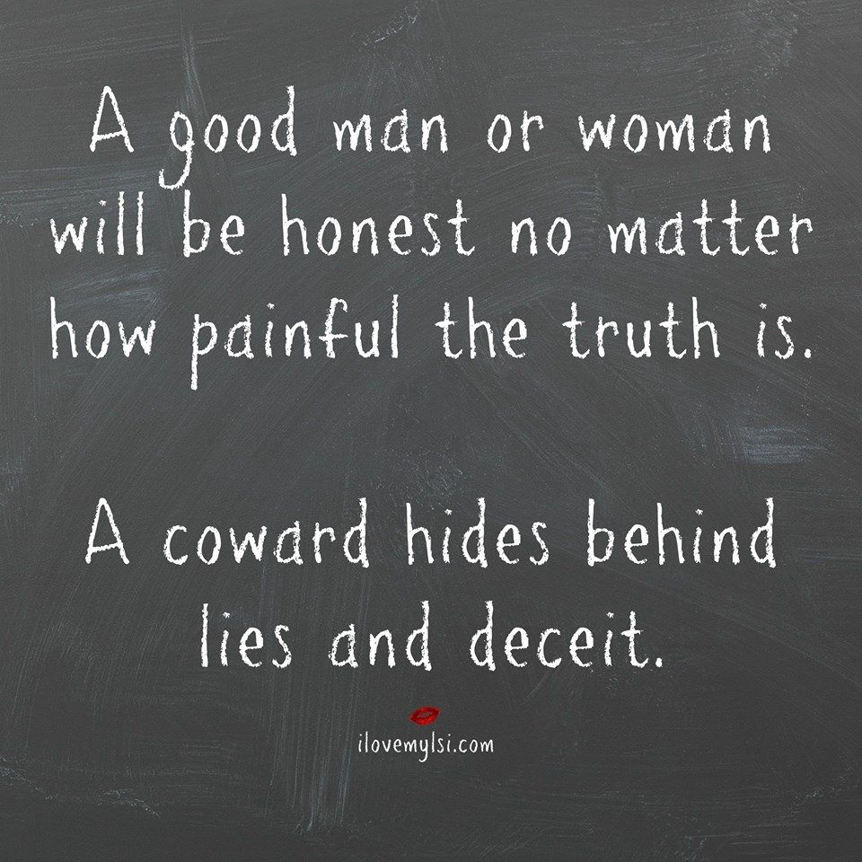 How to get a man to tell the truth