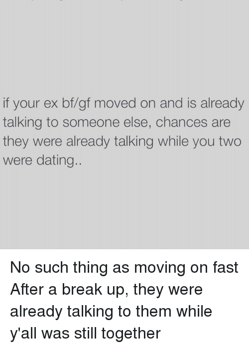 How to deal with your ex moving on before you