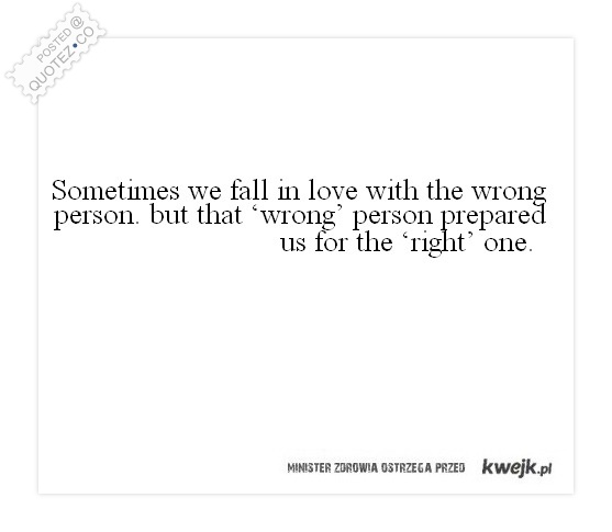 Falling in love with the wrong person quotes