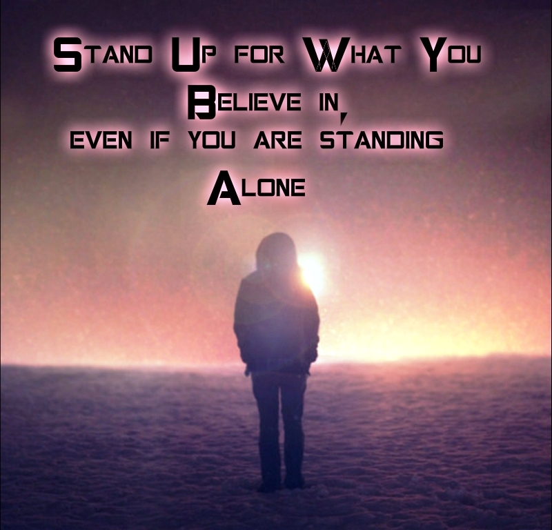 Standing up for oneself