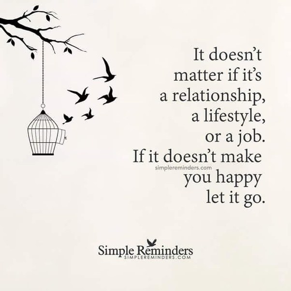 Not feeling satisfied in a relationship