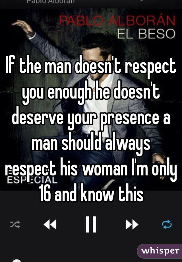 How to know if a man respects you