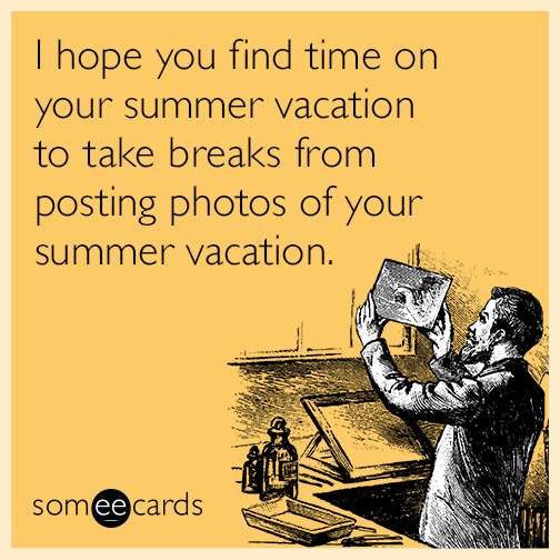 I hope you had a nice summer vacation