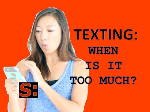 How much texting is too much