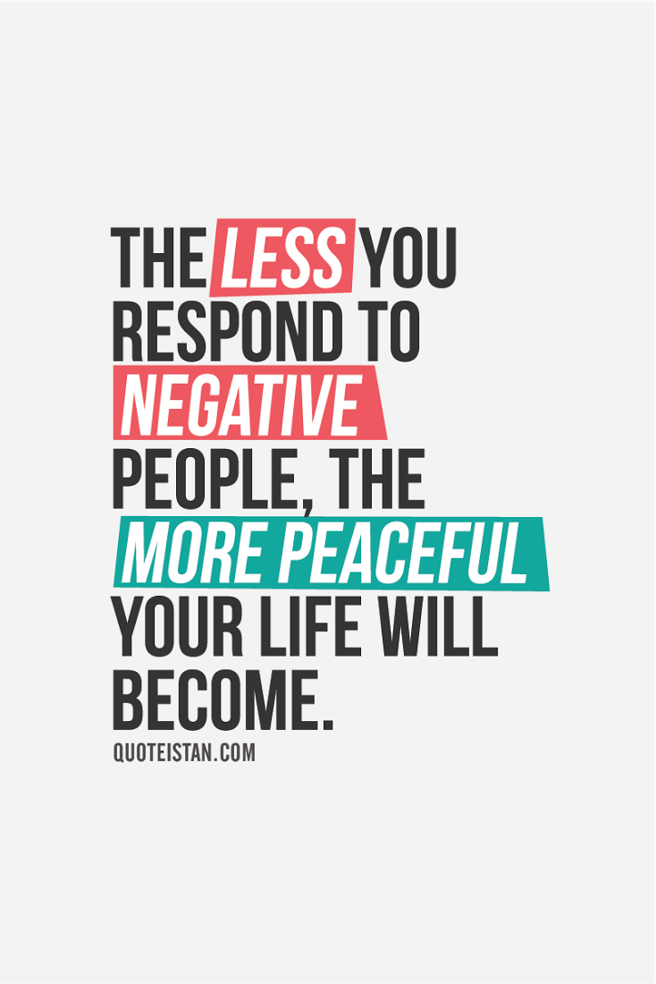 How to be less negative