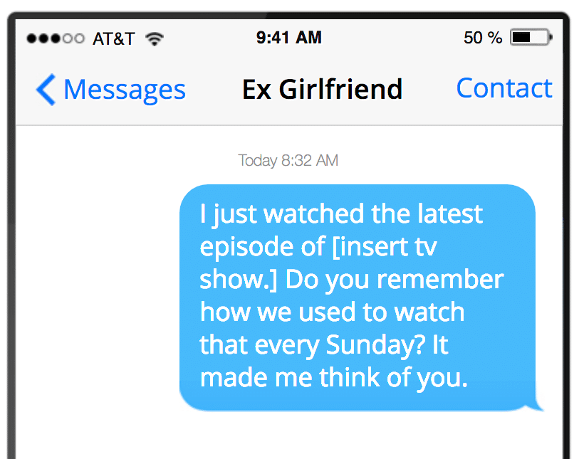 How to text your ex