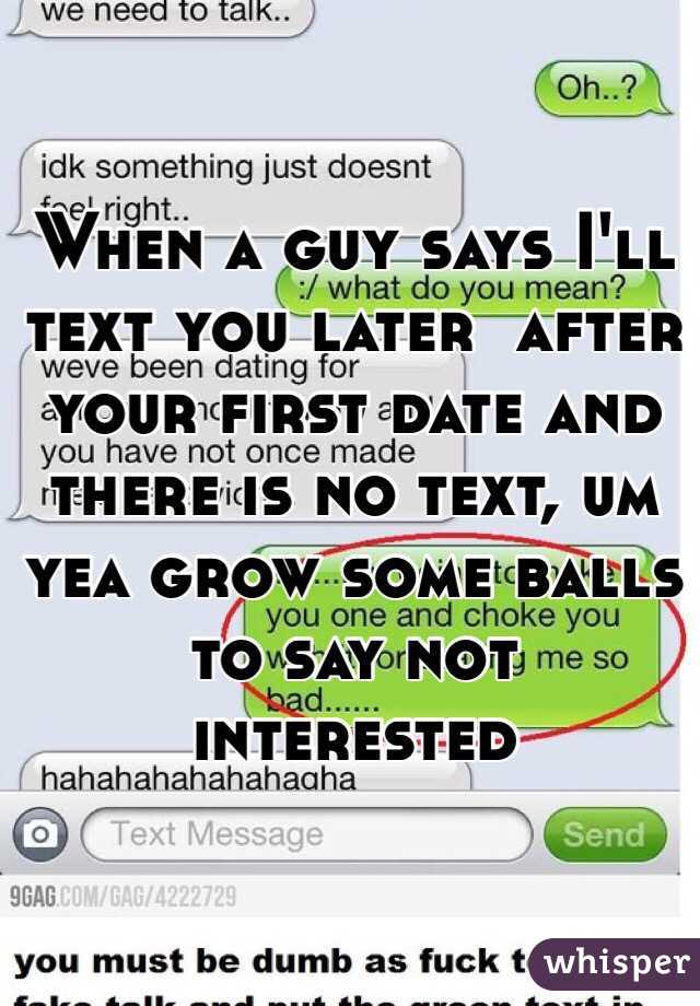 What to text a guy after the first date