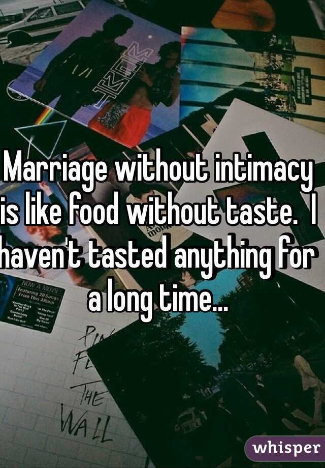 Marriage with no intimacy