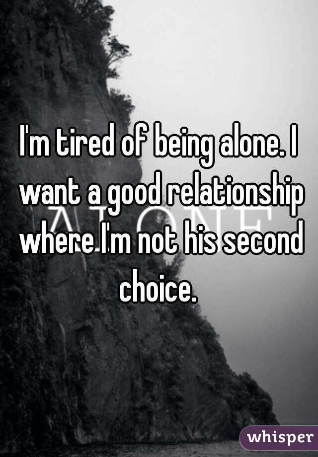 Being second choice in a relationship