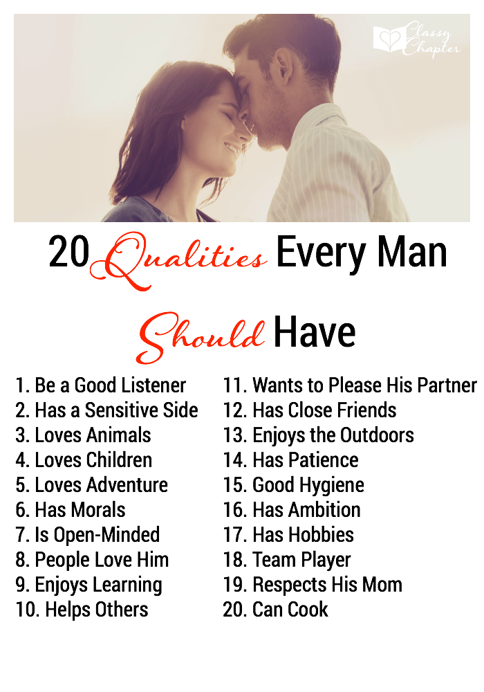 Qualities in a man