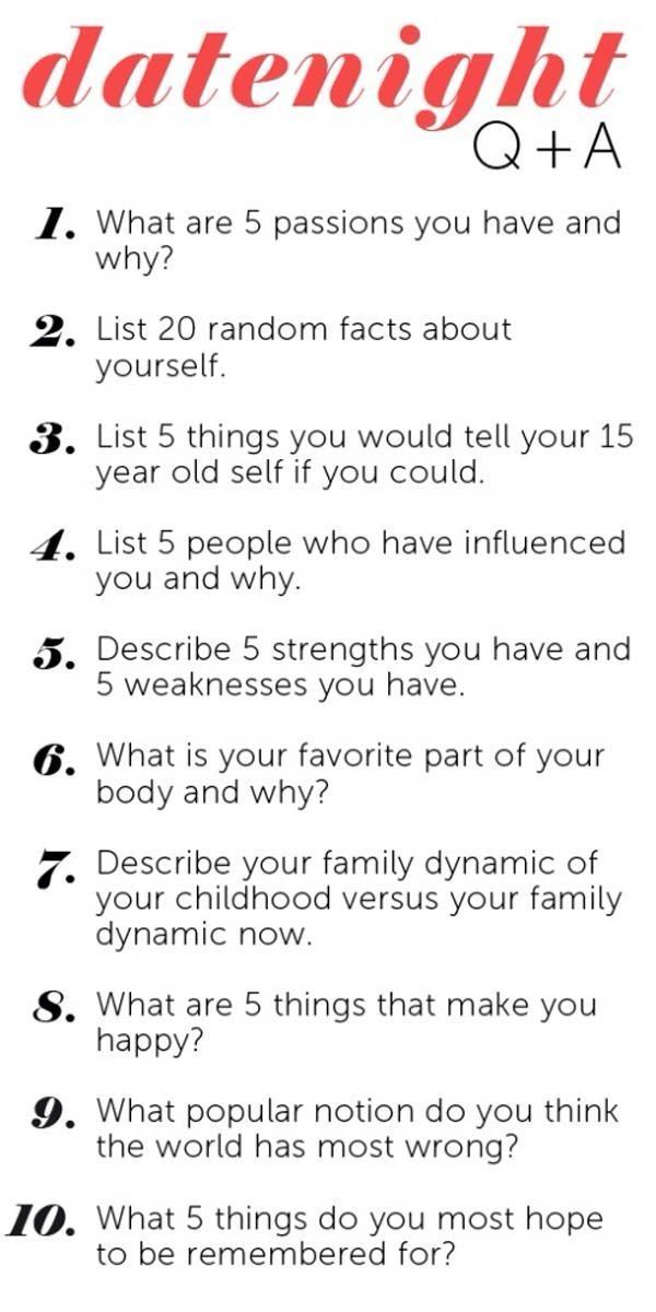 Ask to someone questions personality 20 Unusual