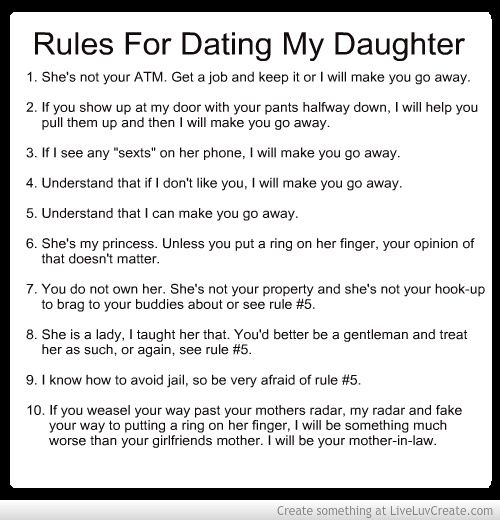 The rules for dating