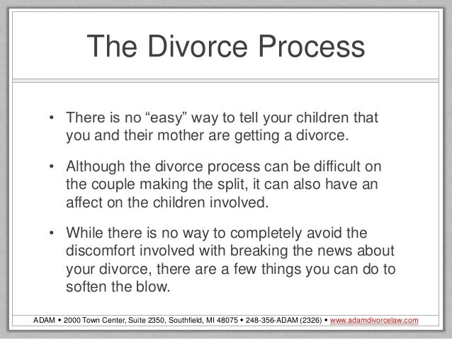 What to tell your child about divorce