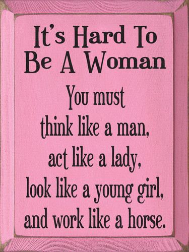 How to act like a lady
