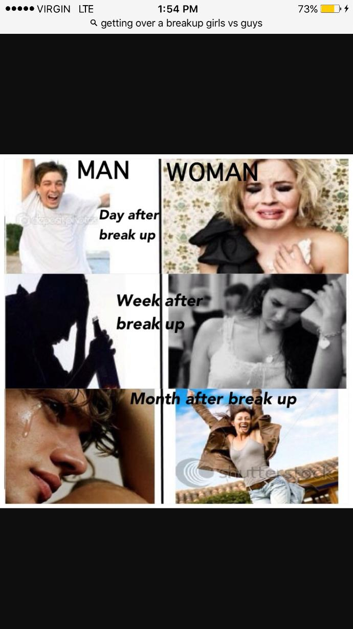 What man do after breakup