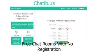 Free chat no registration