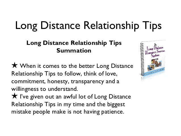 Tips for long distance relationships