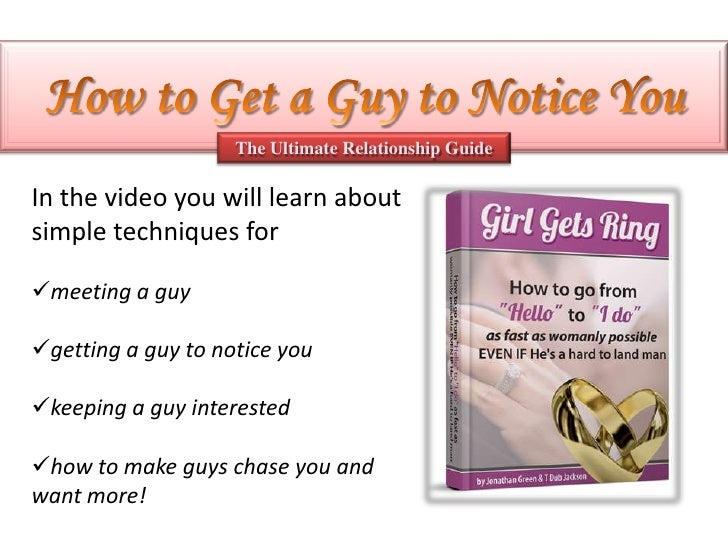 How to get at a guy