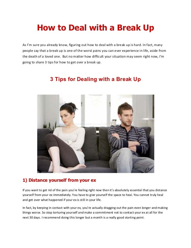 How to deal with break ups
