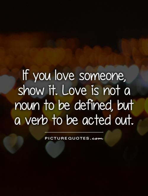 If u luv someone