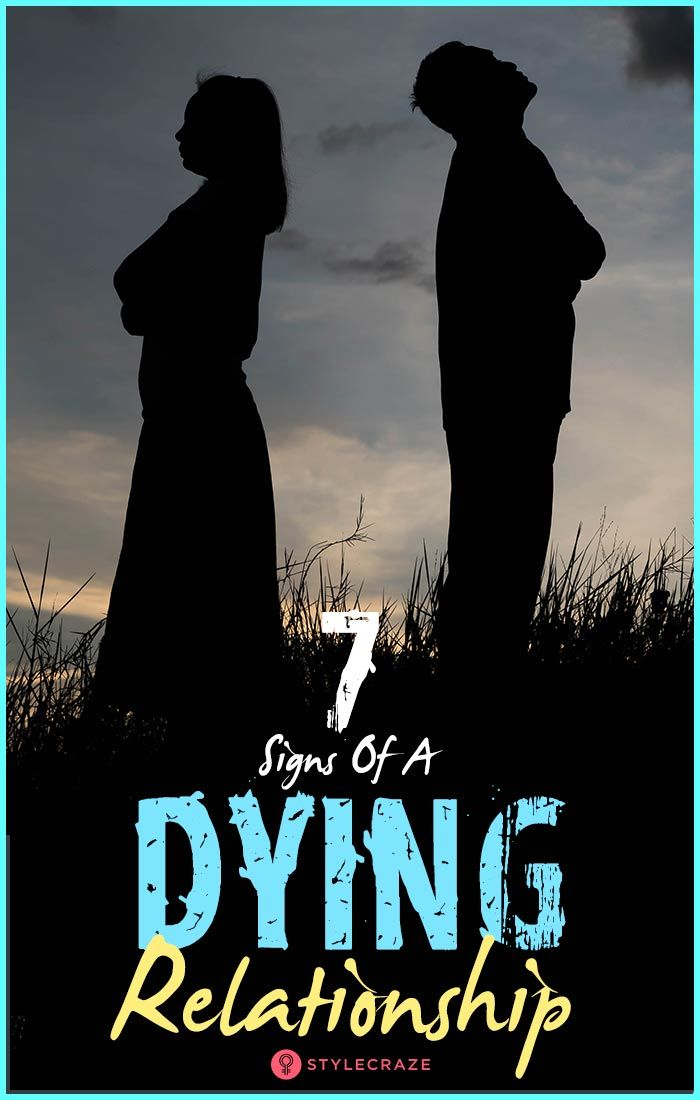Signs of dying relationship