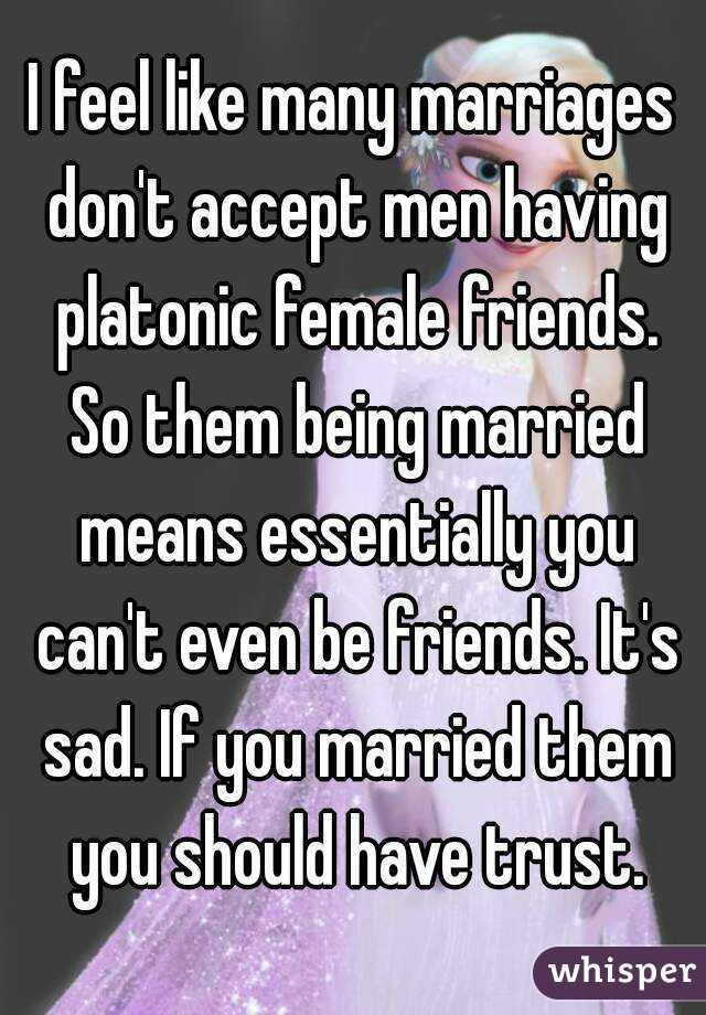 Married men with female friends