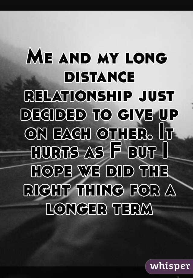 Long distance relationship hurts