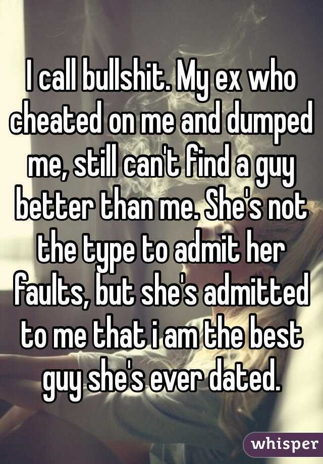 Will she ever admit to cheating