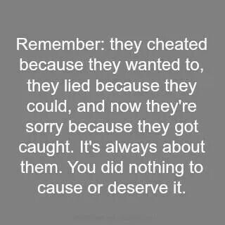 How to tell someone you cheated