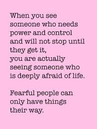 Dealing with control freaks