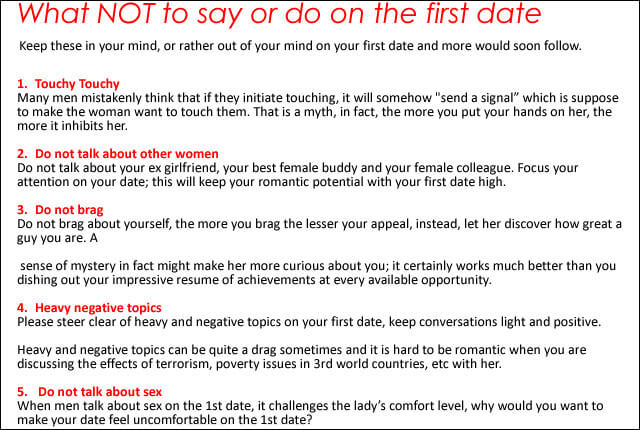 What to do on a first date with a guy
